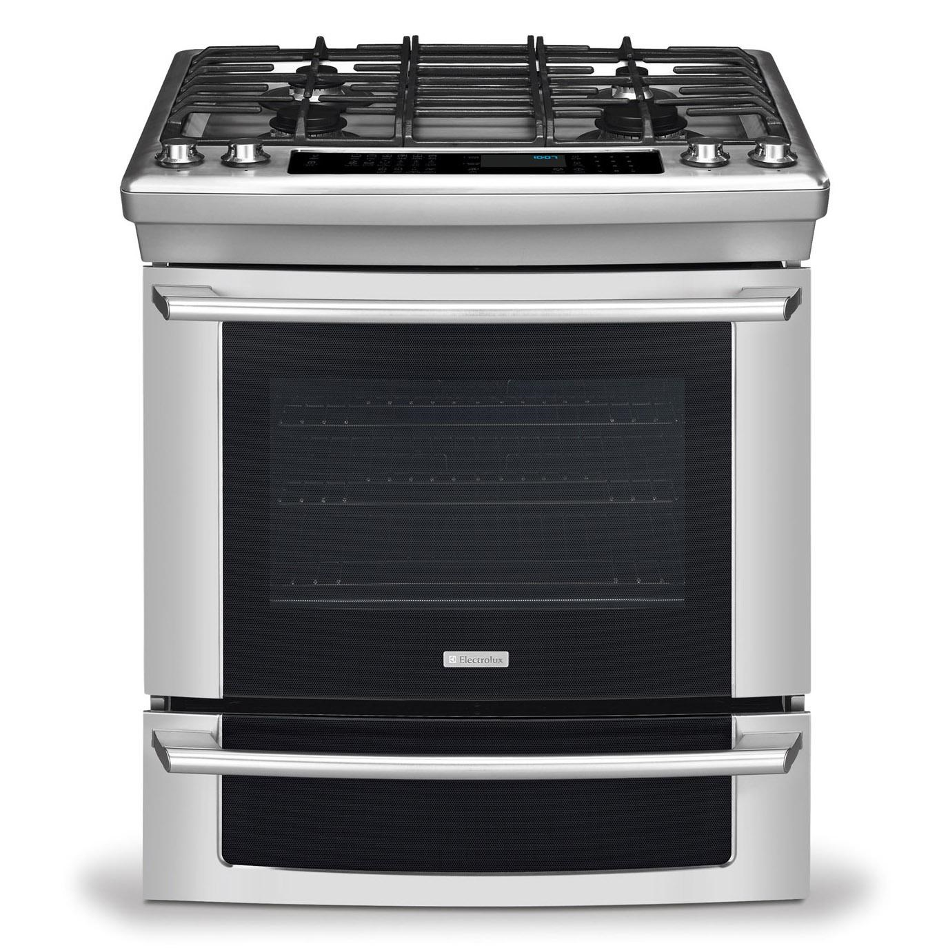 Electrolux 30u0026quot; Slide-In Dual-Fuel Range with 4.2 Cu. Ft. Convection Oven - Furniture and ...