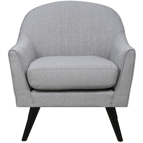 Elements International Casana Mid-Century Modern Chair with Splayed Legs
