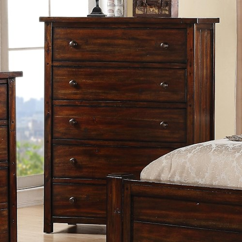 Elements International Boardwalk Chest with 5 Drawers
