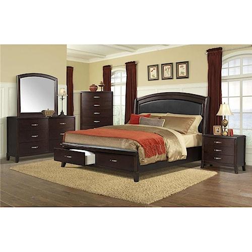 Cordova Bedroom Set: Elements International Delaney Queen 4-Piece Bedroom Group