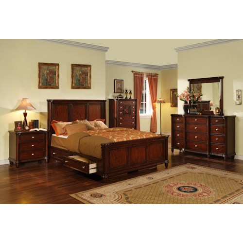 Morris Home Furnishings Lockport 5 Piece Queen Bedroom Set