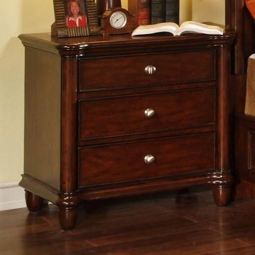 Morris Home Furnishings Lockport 3 Drawer Night Stand