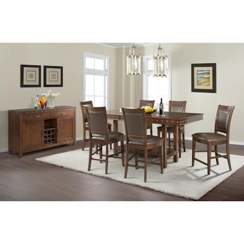 Elements International Prescott Counter Height Dining Room