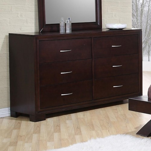 Morris Home Furnishings Rotterdam Contemporary 6 Drawer Dresser