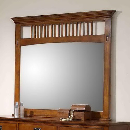 Morris Home Furnishings Townsend Mission Style Dresser Mirror with Slat Detail