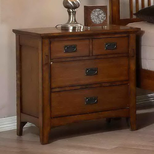 Morris Home Furnishings Townsend Mission Style Nightstand with Drawers