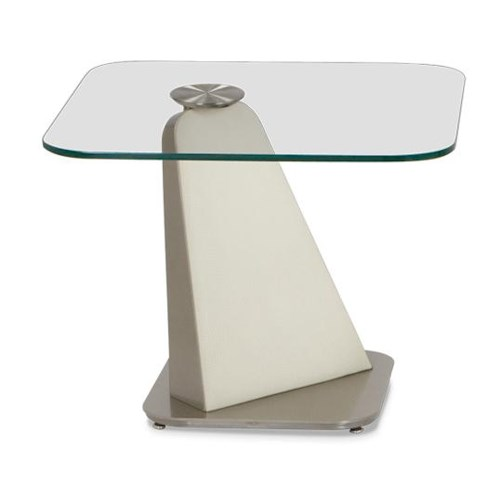 Elite Modern Vibe End Table with Metal Base