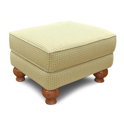 England Fairview Ottoman with Exposed Wood Leg