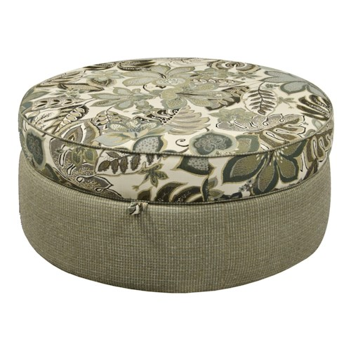England Olena Round Storage Ottoman for Casual Elegance