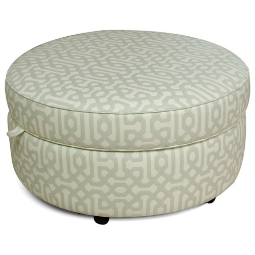 England Allison Round Storage Ottoman for Casual Elegance