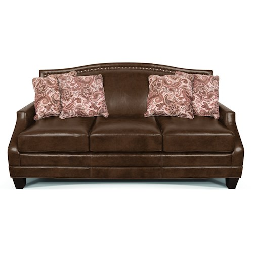England Larson Traditional Stationary Sofa with Nail Head Trim