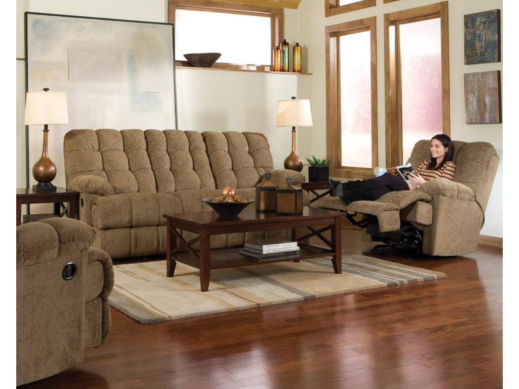 Shown with Coordinating Collection Sofa. Recliner Shown May Not Represent Exact Features Indicated.