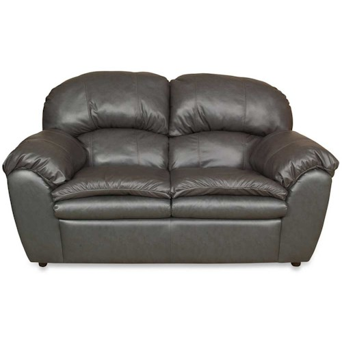 England Oakland Leather Love Seat