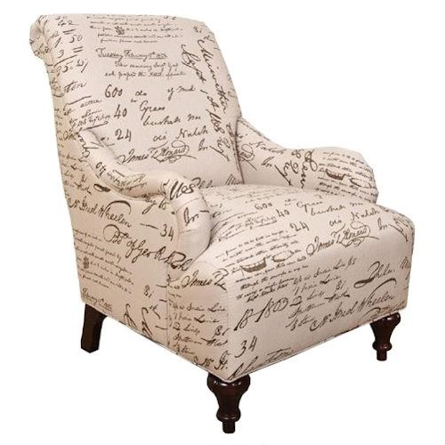 England Kelsey Cottage Accent Chair with Traditional Furniture Style and Rolled Back