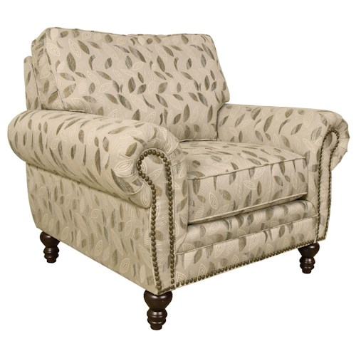 England Amix  Traditional Styled Chair with Nail Head Trim
