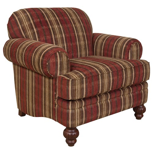 England Bill Decorative Arm Chair in Transitional Cottage Style