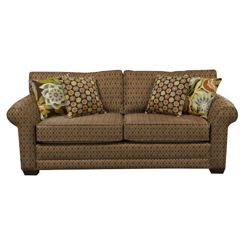 England Brantley Plush Upholstered Queen Size Sleeper Sofa