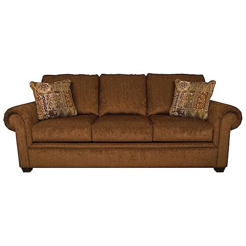England Brett Queen Sleeper Sofa with Exposed Block Legs