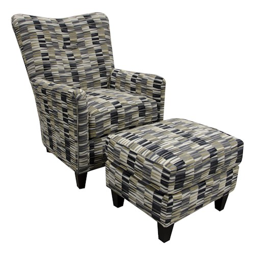 England Daughtry Chair and Ottoman