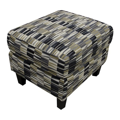 England Daughtry Ottoman with Contemporary Style