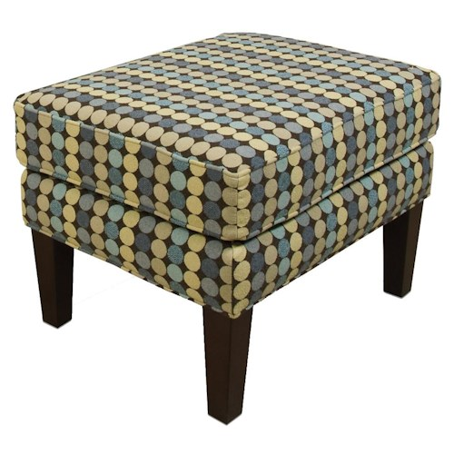 England Denise  Casual Ottoman with Tall Wooden Legs