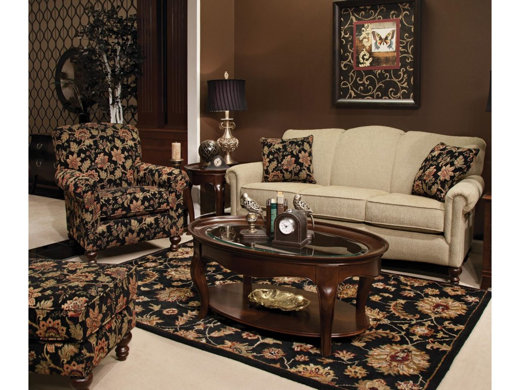 Shown with Coordinating Collection Sofa. Ottoman Shown Left Corner.