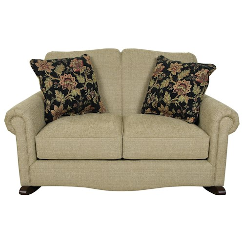England Eliza Traditional Upholstered Rocking Loveseat
