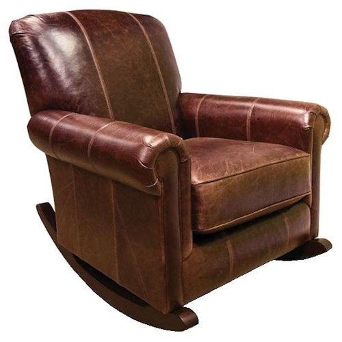 England Linden Upholstered Traditional Rocker