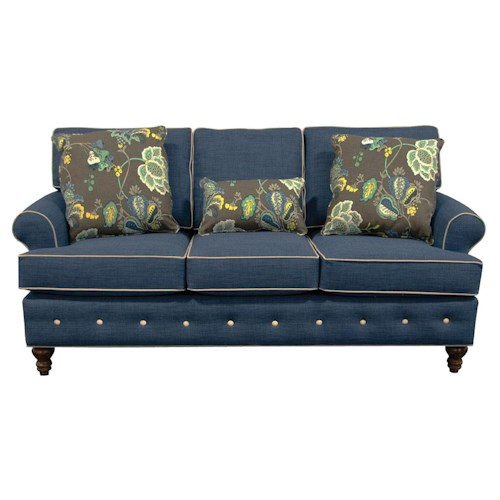 England Evans Living Room Sofa with Button Tufts