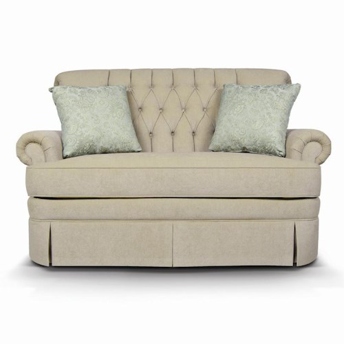 England Fernwood Loveseat with Skirt