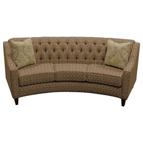 England Finneran Round Sofa with Tufted Back