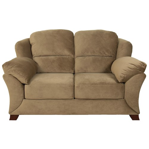 England Geoff  Contemporary Loveseat with Plush and Cozy Cushions