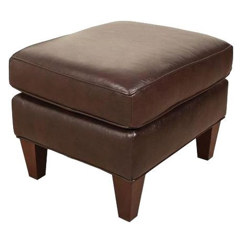 England Lyle Smooth Upholstered Ottoman with Transitional Furniture Style