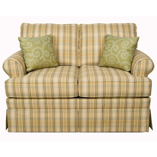 England Grace  Loveseat with Skirted Base