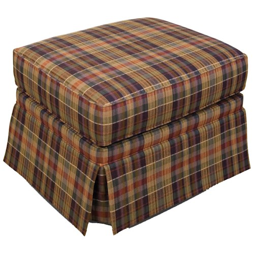 England Grace  Ottoman with Skirted Base