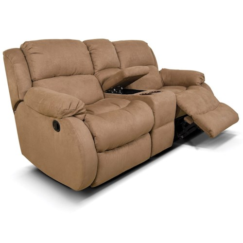 England Hali Double Rocking Reclining Love Seat with Console
