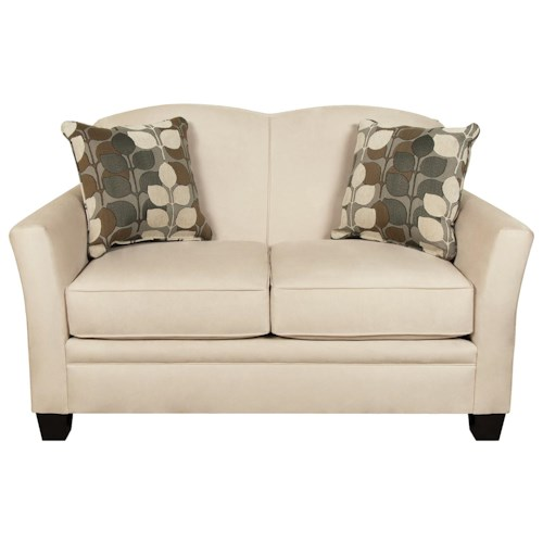 England Hilleary Loveseat with a Curved Seat Back