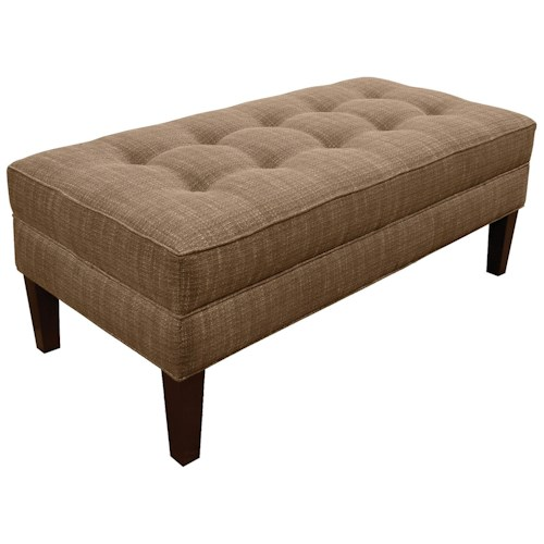 England Jacob  Living Room Ottoman with Matching Welt Cord Trim