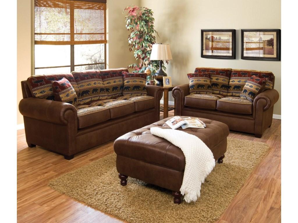 Shown in Room Setting with Matching Loveseat and Ottoman
