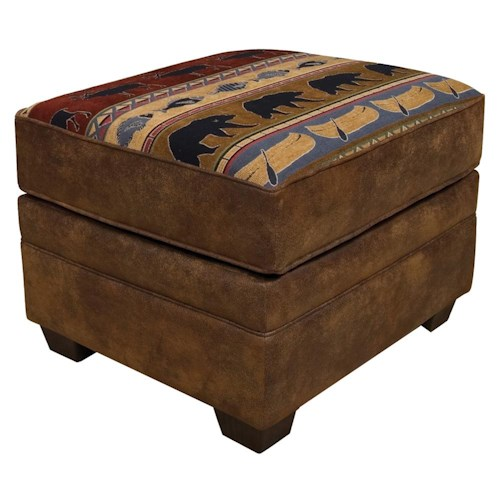 England Jaden Ottoman with Tapered Block Feet