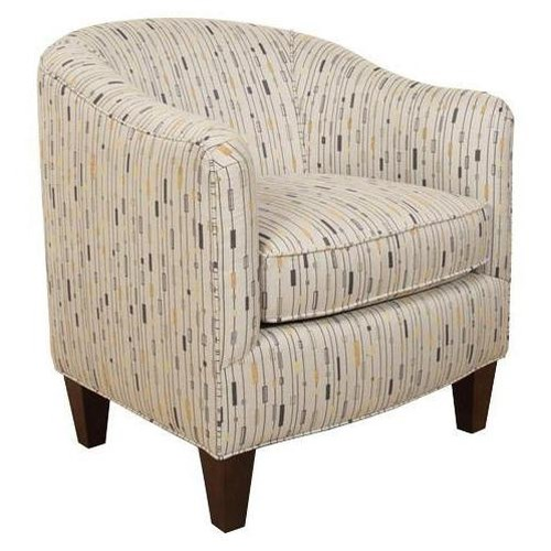 England Keely  Contemporary Styled Upholstered Barrel Chair