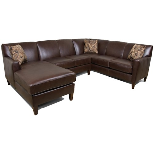 England Lynette Contemporary 3-Piece Sectional Sofa with LAF Chaise