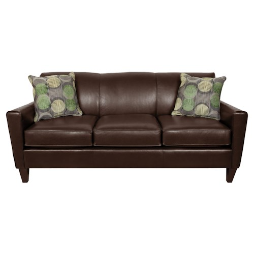 England Lynette Leather Sofa with Contemporary Style