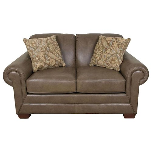 England Leah  Traditional Styled Loveseat with Classic Sophistication