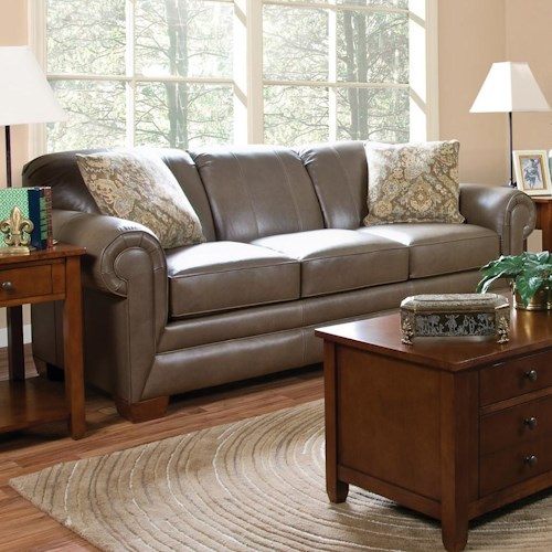 England Leah  Leather Sofa Sleeper
