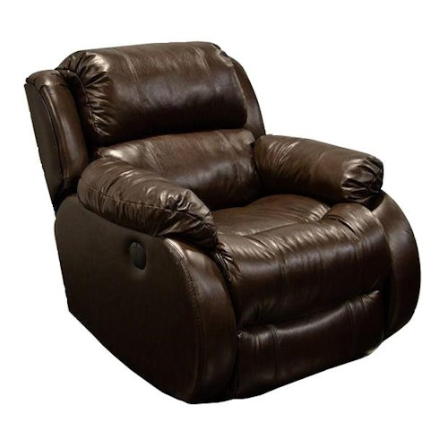 England Litton Leather Swivel Glider Recliner