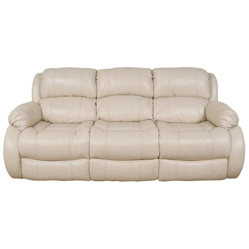 England Litton Three Over Three Leather Reclining Sofa