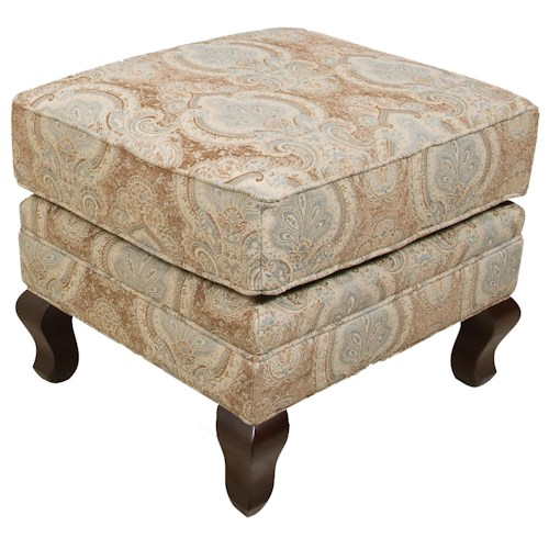 England Christopher Traditional Upholstered Ottoman
