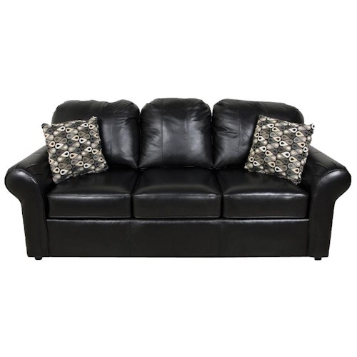 England Lochlan 3-Seat Leather Sofa with Casual Style