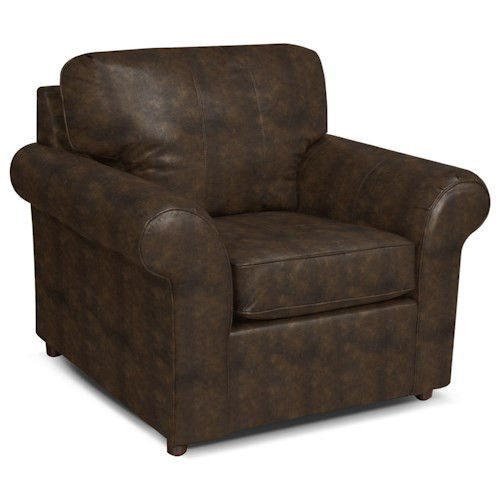 England Lochlan Upholstered Chair in Casual Den Room Style